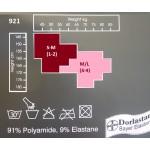 921 - Διαφανές Ελαστικό Καλσόν με Σχέδιο Δαντέλα