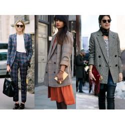Το καρώ σακάκι & παναφόρια για τον χειμώνα