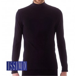 255 - Ανδρικό Ελαστικό T-Shirt Ζιβάγκο με Μακρύ Μανίκι