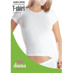 30020 - Ελαστικό T-Shirt με Κοντό Μανίκι Χωρίς Ραφές
