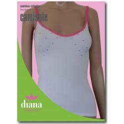** ΠΡΟΣΦΟΡΑ ** 30050 - Ελαστικό Camisole με Λεπτή Τιράντα και Σχέδιο Πουά