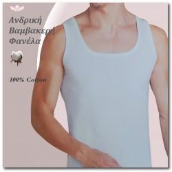 404-4  Ανδρική Φανέλλα με Τιράντα (100% βαμβάκι)