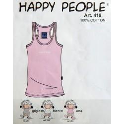 419 - Βαμβακερό Αμάνικο T-Shirt σε Λευκό c85f98a8f17