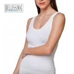 53 - Ελαστικό Τ-shirt από μικροφίμπρα με Φαρδιά Τιράντα