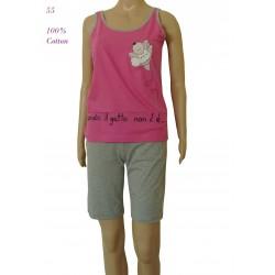 """55 - Καλοκαιρινό Αμάνικο Μπλουζάκι με Βερμούδα """"Μπαλαρίνα"""""""