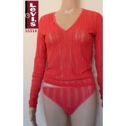 Ημι-διαφανές Shirt LEVIS με Μακρύ Μανίκι και Δαντέλα