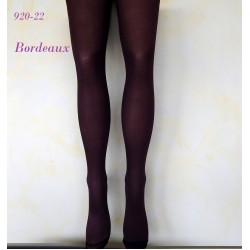 """920-22  Αδιαφανές Ελαστικό Καλσόν με Σχέδιο πουά """"Bordeaux"""""""