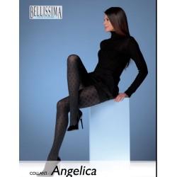 """921-51  Ημι-Διαφανές Ελαστικό Καλσόν με Σχέδιο ρόμβο """"Angelica"""""""