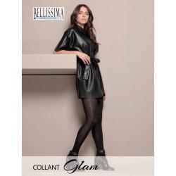 """922-13 Διαφανές Ελαστικό Καλσόν με Σχέδιο """"Glam"""" σε Γραμμή στο πλάι"""