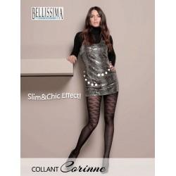 """922-14  Διαφανές Ελαστικό Καλσόν με λαστέξ & Σχέδιο """"Corinne"""""""