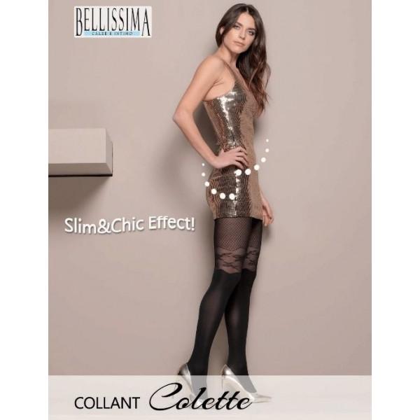 """*** ΠΡΟΣΦΟΡΑ *** 922-15  Διαφανές Ελαστικό Καλσόν με λαστέξ & Σχέδιο """"Colette"""""""