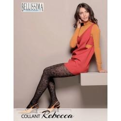"""922-7  Διαφανές Ελαστικό Καλσόν με Σχέδιο φλοράλ """"Rebecca"""""""