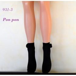 """931-3 Αδιαφανές Σοσόνι με """"Pon pon"""""""
