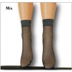 """966-10 Καλτσάκι δίχτυ με μεταλικό γυαλιστερό νήμα """"Mix"""""""