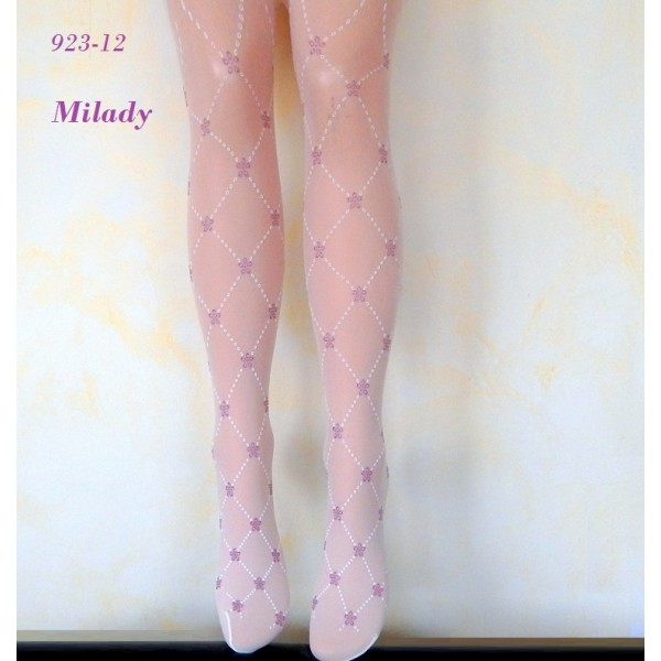 """986-26  Παιδικό Διαφανές Ελαστικό Καλσόν με Σχέδιο Ρόμβους """"Milady"""""""