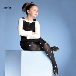 """986-60  Παιδικό Ημι-διαφανές Ελαστικό Καλσόν με Σχέδιο αστεράκια """"Stella"""""""