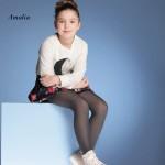 """986-61  Παιδικό Διαφανές Ελαστικό Καλσόν με Σχέδιο δίχτυ"""" Amalia"""""""