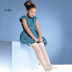"""986-62  Παιδικό αδιαφανές Ελαστικό Καλσόν με Σχέδιο """"Teddy"""""""
