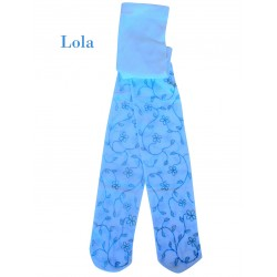 """986-85  Παιδικό αδιαφανές Ελαστικό Καλσόν με Σχέδιο """"Lola"""""""