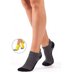 A015 - Γυναικεία Αθλητική βαμβακερή κάλτσα με πετσέτα και αυτί