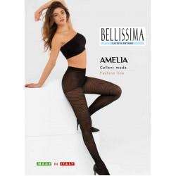 "BF2 - Διαφανές Ελαστικό Καλσόν με Σχέδιο ""Amelia"""