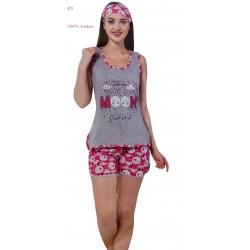 "P5 - Αμάνικο Μπλουζάκι με Σορτσάκι ""Moon"" - 100% Βαμβάκι"